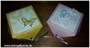 Stampin up diamantbox papillon potpourri petite petals flower shop