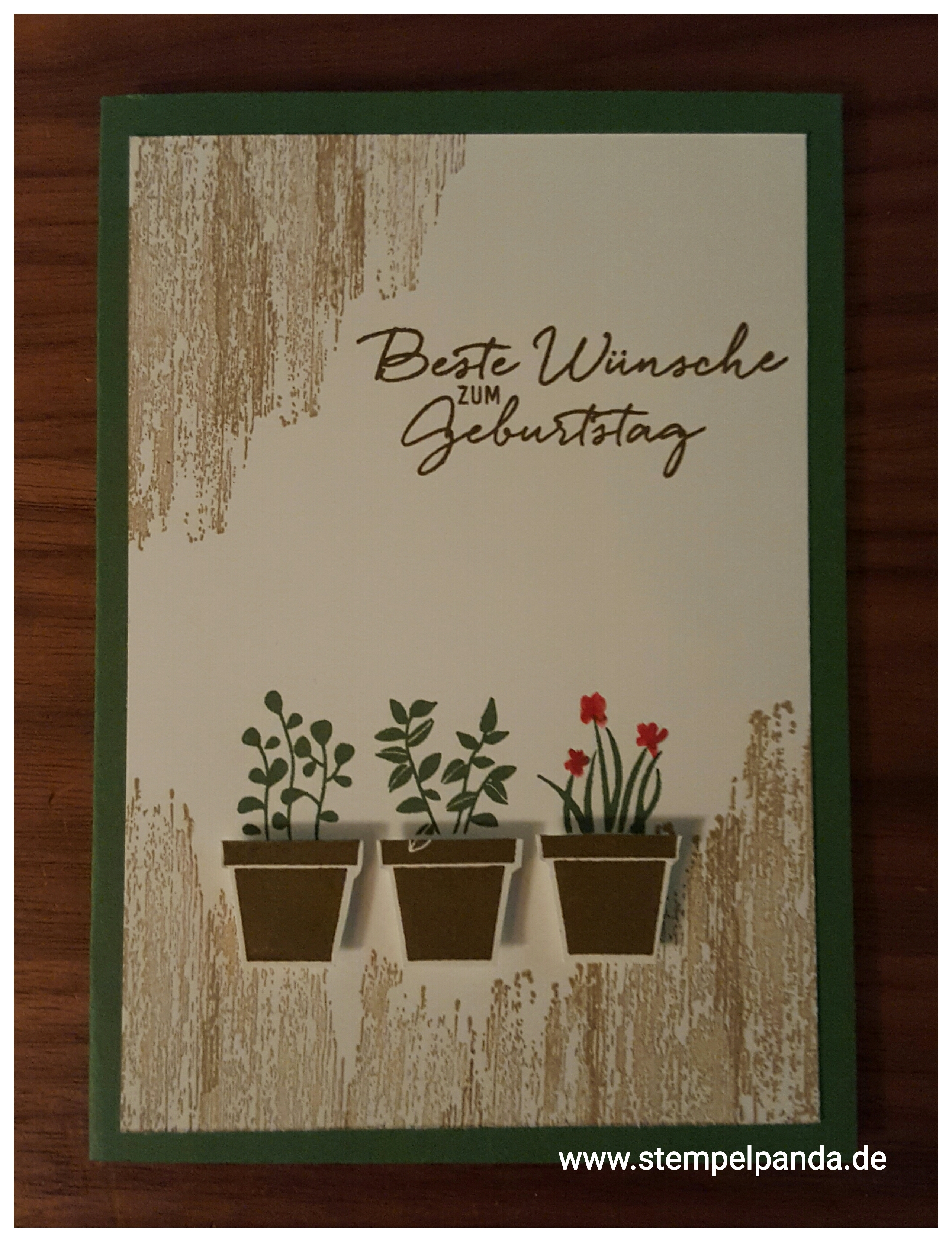 Stampin up stempelpanda gift from the garden geburtstag birthday