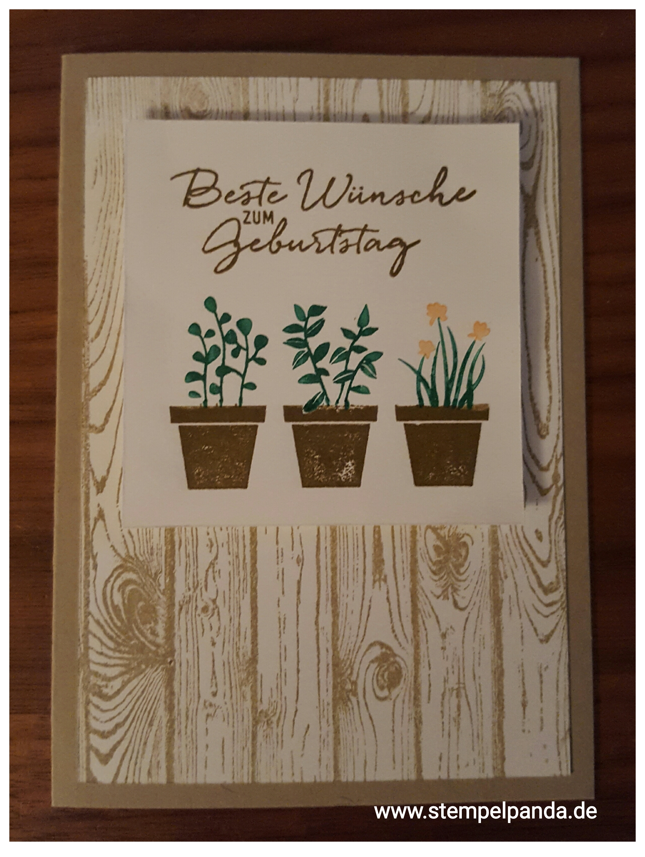 Stampin up stempelpanda gift from the garden geburtstag birthday