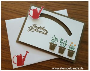 Stampin up stempelpanda gift from the garden sliding star kullerkarte spinner card