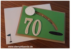 Stampin up stempelpanda golf geburtstag birthday