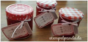 Stampin Up, SU, Stempelpanda, Glasklare Grüße, Jar of love