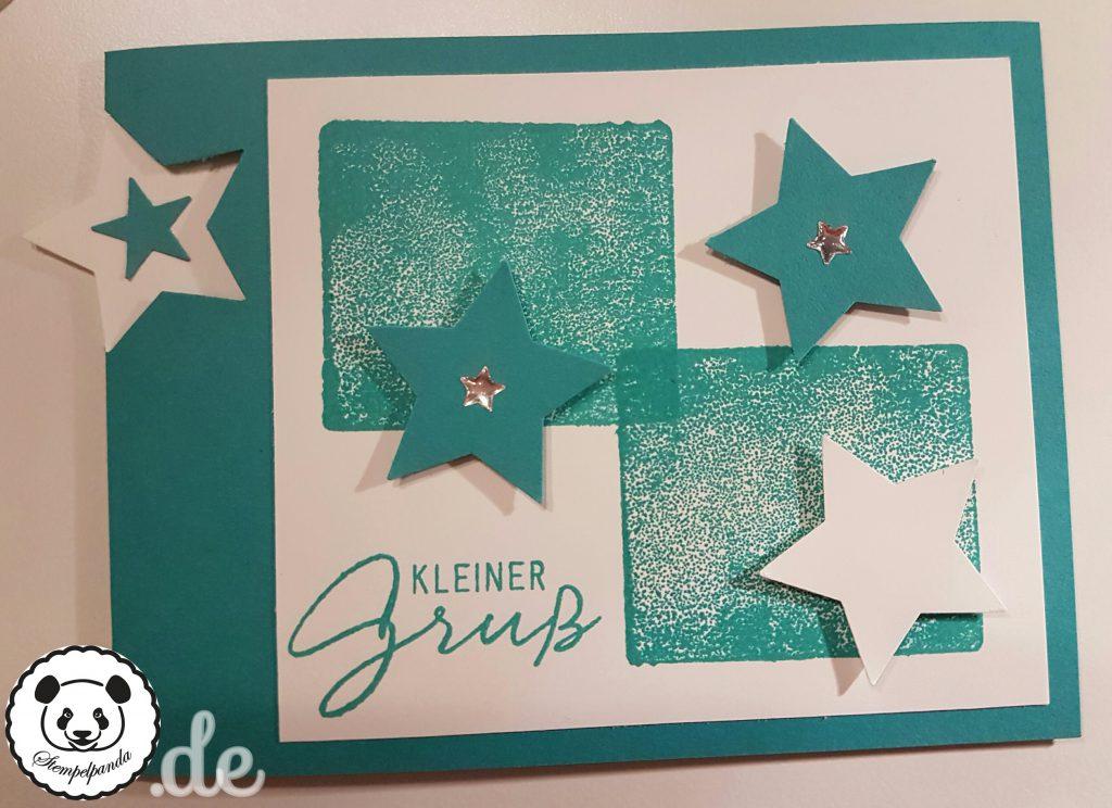 Stampin Up, SU, Stempelpanda, Acrylblocktechnik, Sterne, Stars