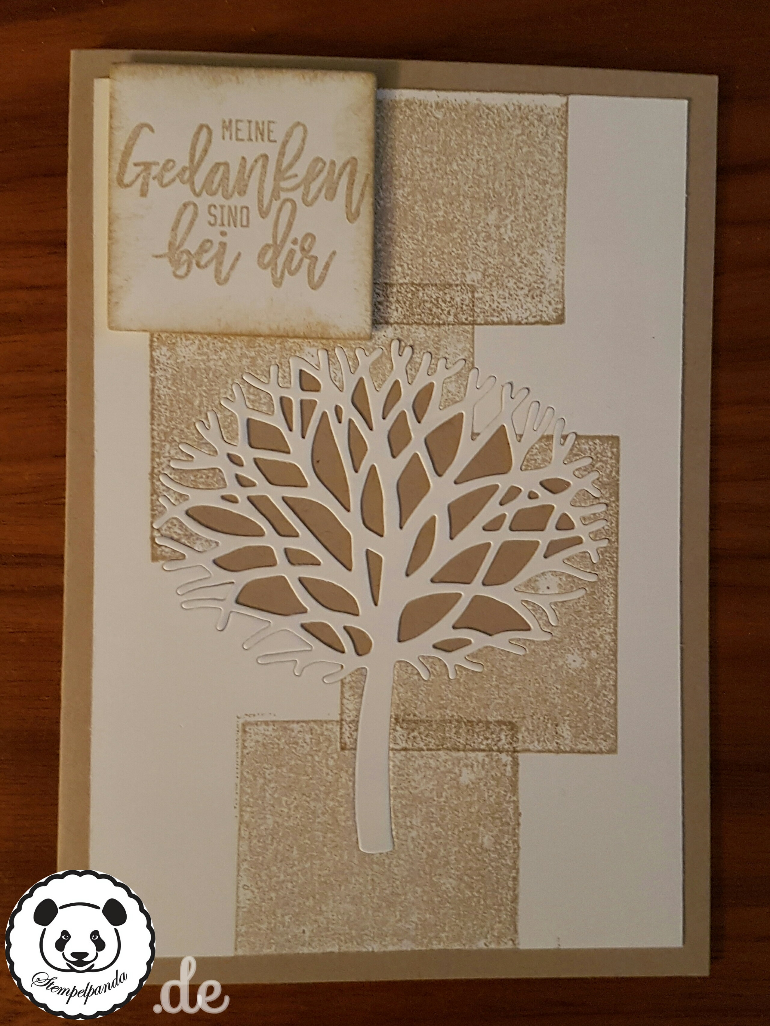 Stampin Up, SU, Stempelpanda, Acrylblocktechnik, Wald der Worte, Thoughtful Branches