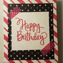 Stampin up, SU, Stempelpanda, Pink mit pep, Happy Birthday, stylized Birthday