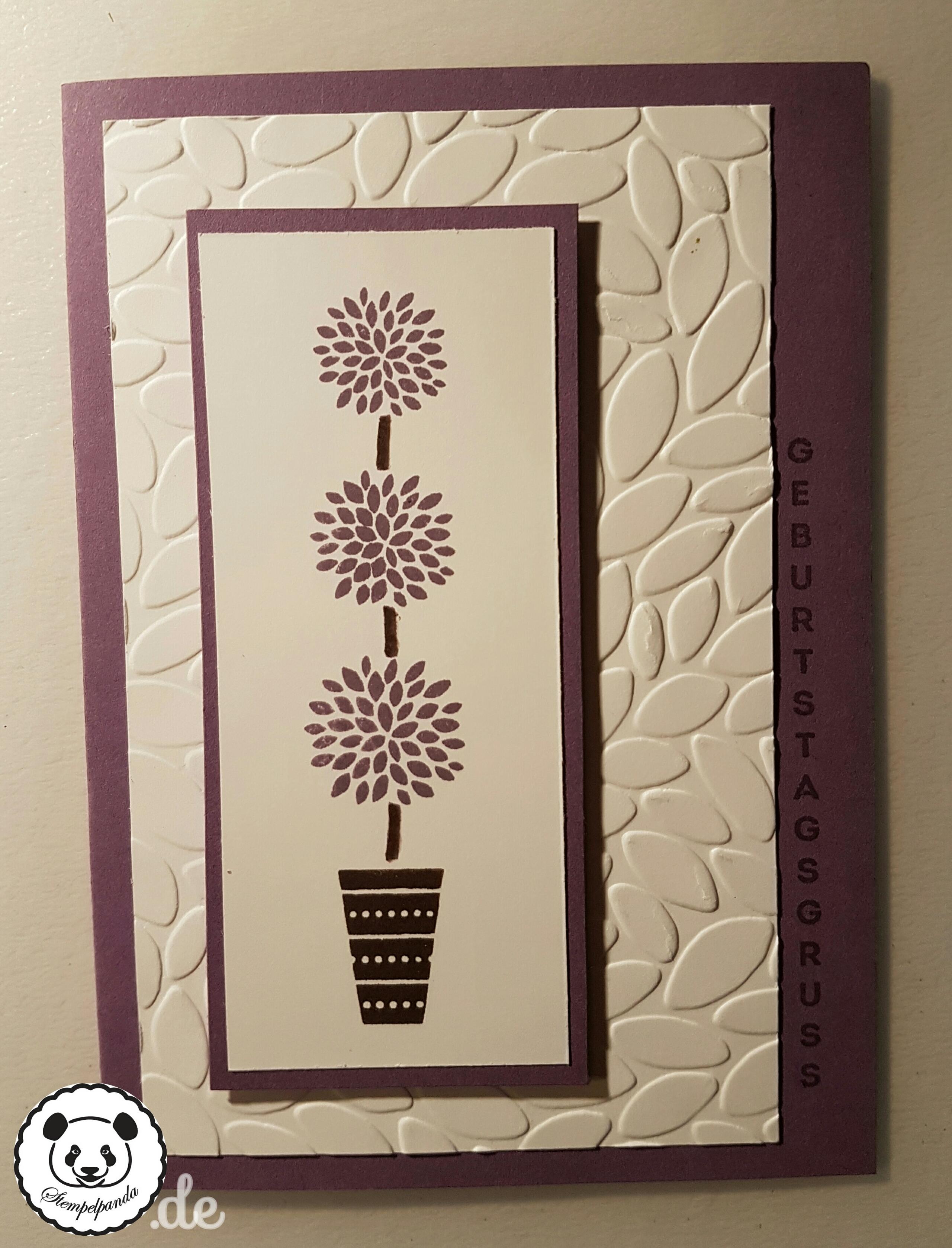 Stampin up, SU, Genial vertikal, Vertical Greetings, Prägeform Blätter