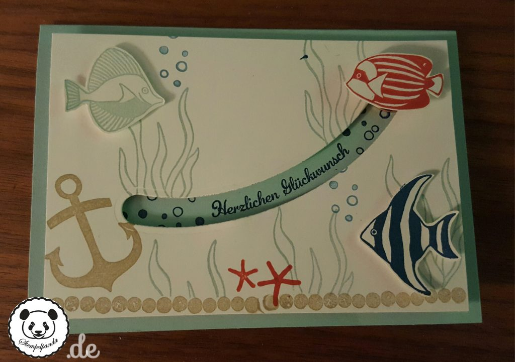 Stampin up, SU, Stempelpanda, Kullerkarte, Spinner Card, Sliding Star, Seaside Shore