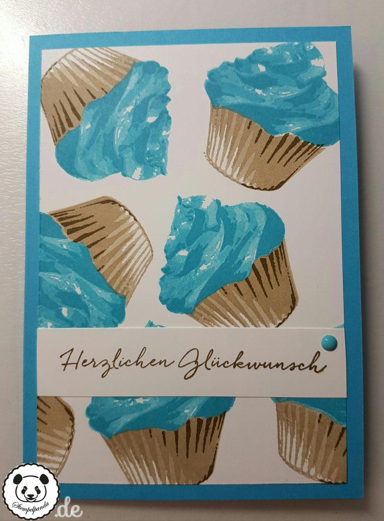 Stampin Up, SU, Stempelpanda, Sweet Cupcake, Cupcake für dich, Happy Birthday, Geburtstag