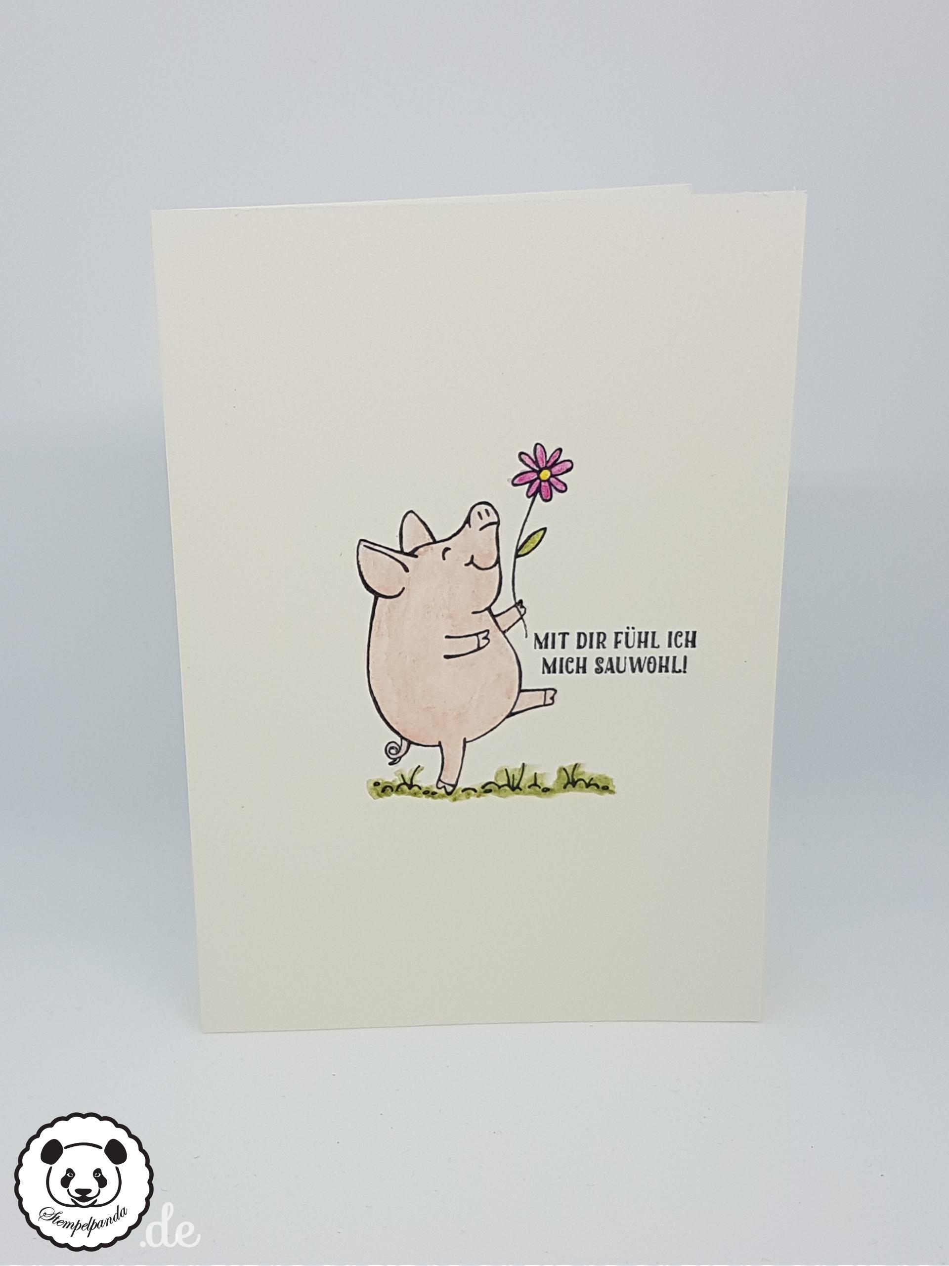 Endlich sind die Schweine angekommen… – Stempelpanda