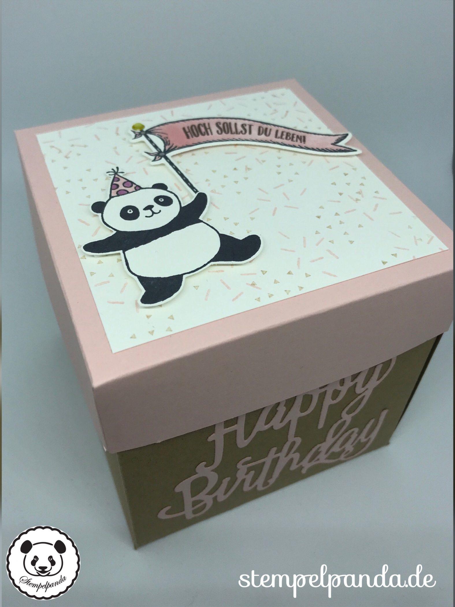 Stempelpanda, Stampin Up, SU, Explosionsbox, Geburtstag, Birthday ...
