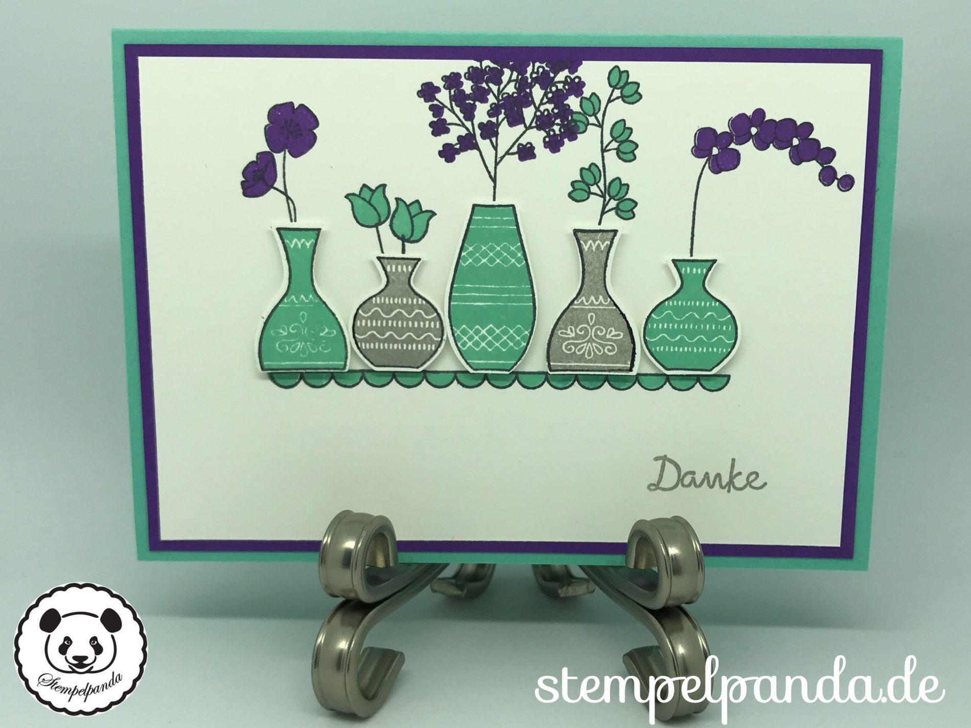 Stempelpanda, Stampin Up, SU, Wunderbare Vasen, Varied Vases ...