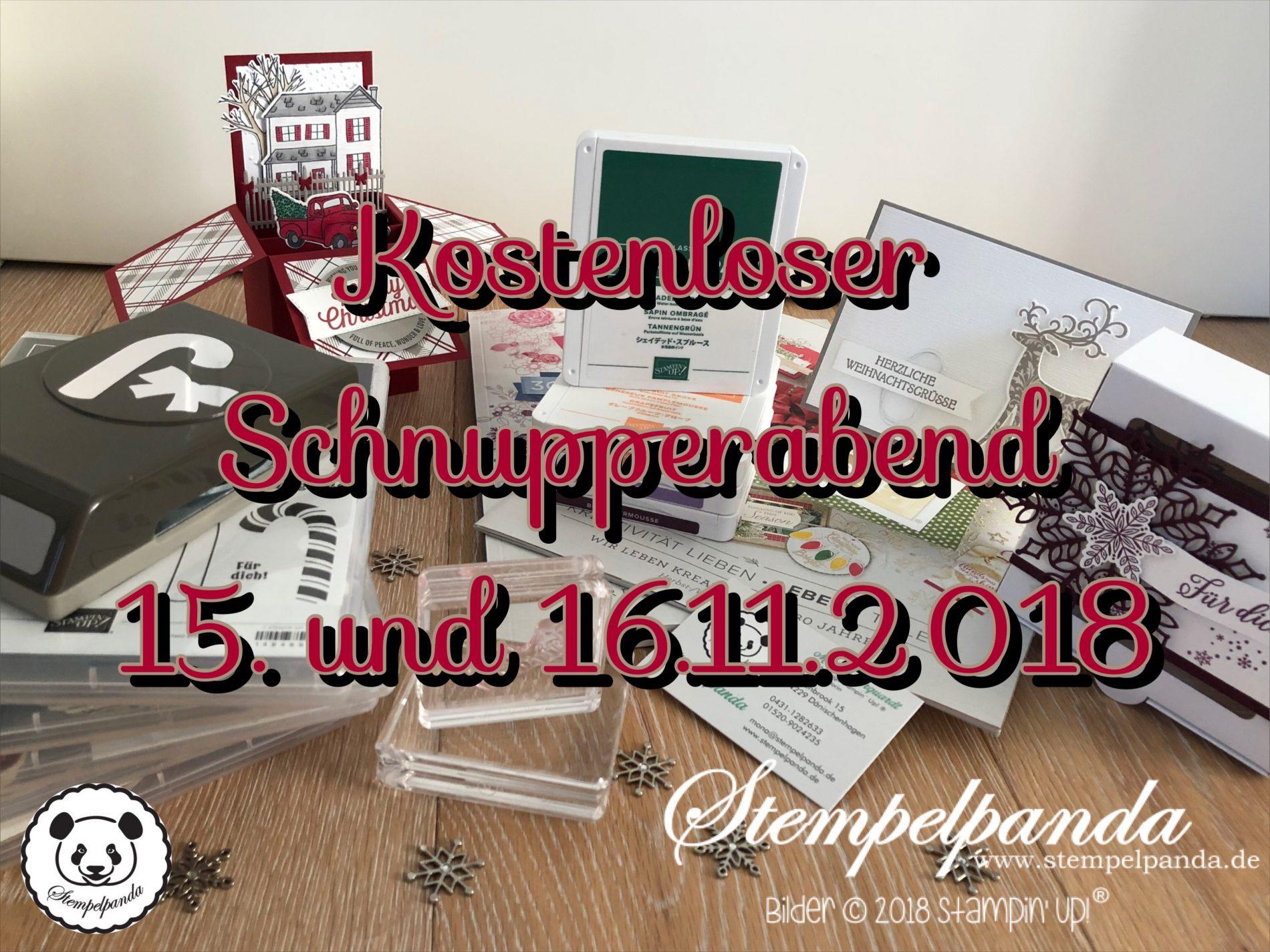 Schnupper-Abend bei Stempelpanda in Dänischenhagen am 15. und 16.11 ...