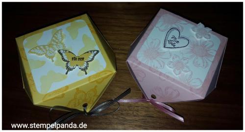 Stampin up diamantbox papillon potpourri petite petals flower shop