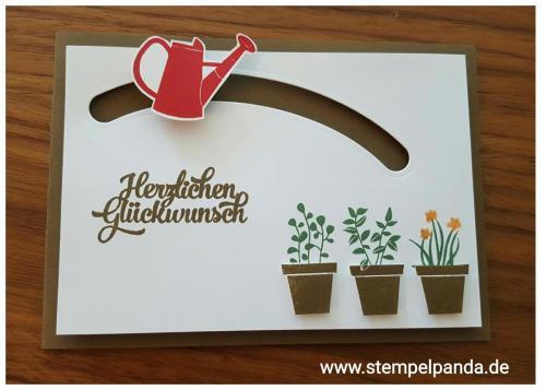 Stampin up stempelpanda gift from the garden sliding star kullerkarte spinner card