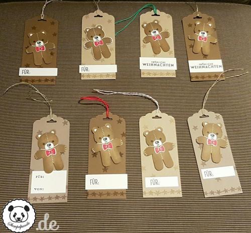 Stampin Up, SU, Stempelpanda, Weihnachten, Christmas, Anhänger, Ausgestochen weihnachtlich, Cookie Cutter