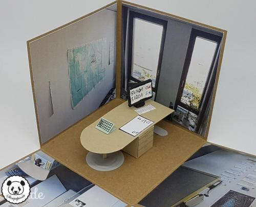 Stempelpanda, Stampin´ Up, SU, Explosionsbox, Büro