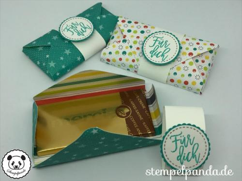 Stempelpanda, Stampin Up, SU, Einfach spritzig, Verpackung, Schokolade, Goodie