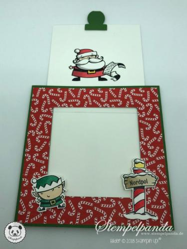 Stempelpanda, Stampin Up, SU, Weihnachtswerkstatt, Signs of Santa, Magic Card, Blog Hop