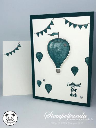 Stempelpanda, Stampin Up, SU, Blog Hop Stempelreise, Blogparade, Über den Wolken, Above the clouds, InColor 2019 2021, Katalog 2019