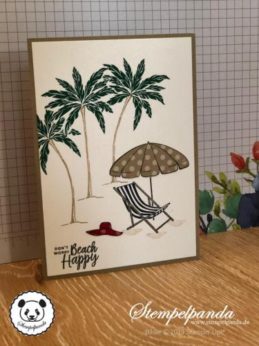 Stempelpanda, Stampin Up, SU, Karte, Beach Happy, Paper Piecing Technik