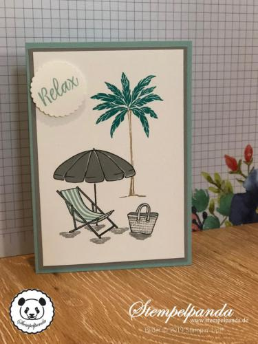 Stempelpanda, Stampin Up, SU, Karte, Beach Happy
