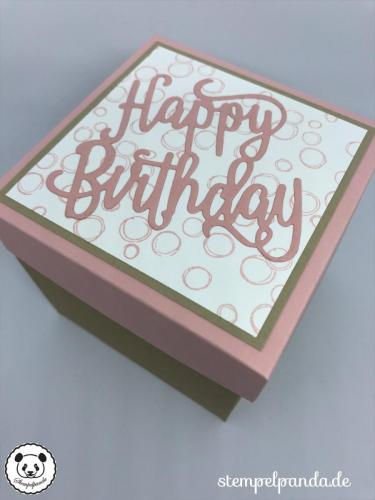 Stempelpanda, Stampin Up, SU, Explosionsbox, Birthday, Geburtstag, Wellness